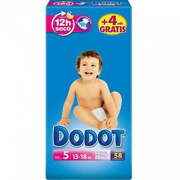 Dodot Pañales  3d t5 ( 13-18 kg ) 58 uds